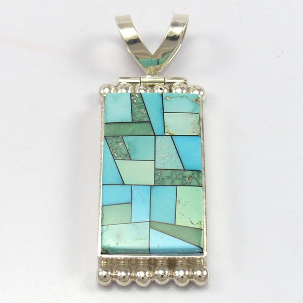 """Stained Glass"" Pendant, Bryon Yellowhorse, Jewelry, Garland's Indian Jewelry"