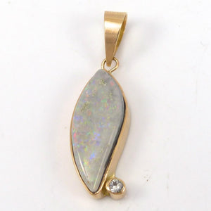 Opal and Sapphire Pendant