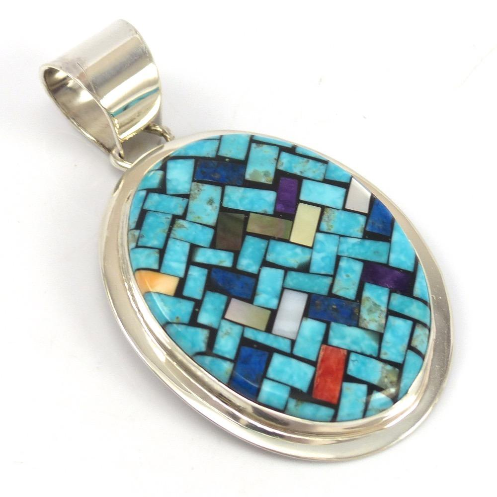 Inlay Pendant, Frank and Charlene Reano, Jewelry, Garland's Indian Jewelry