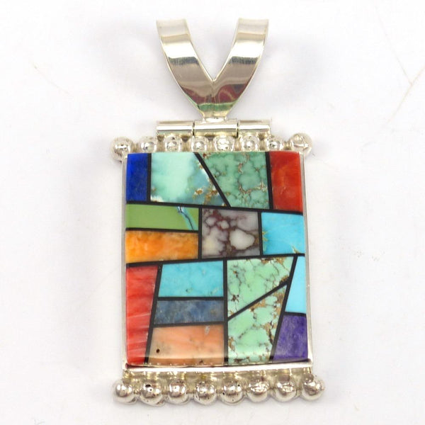 Stained Glass Inlay Pendant