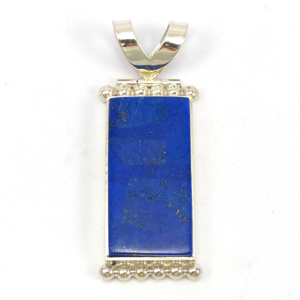 Lapis Pendant, Bryon Yellowhorse, Jewelry, Garland's Indian Jewelry