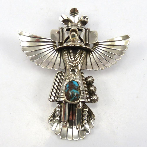 Turquoise Eagle Dancer Pin and Pendant