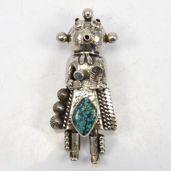 Turquoise Mudhead Pin and Pendant
