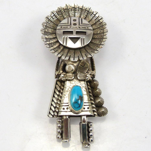 Turquoise Sunface Pin and Pendant