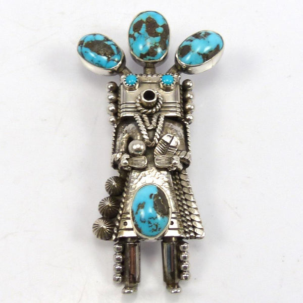Turquoise Yei Pin and Pendant