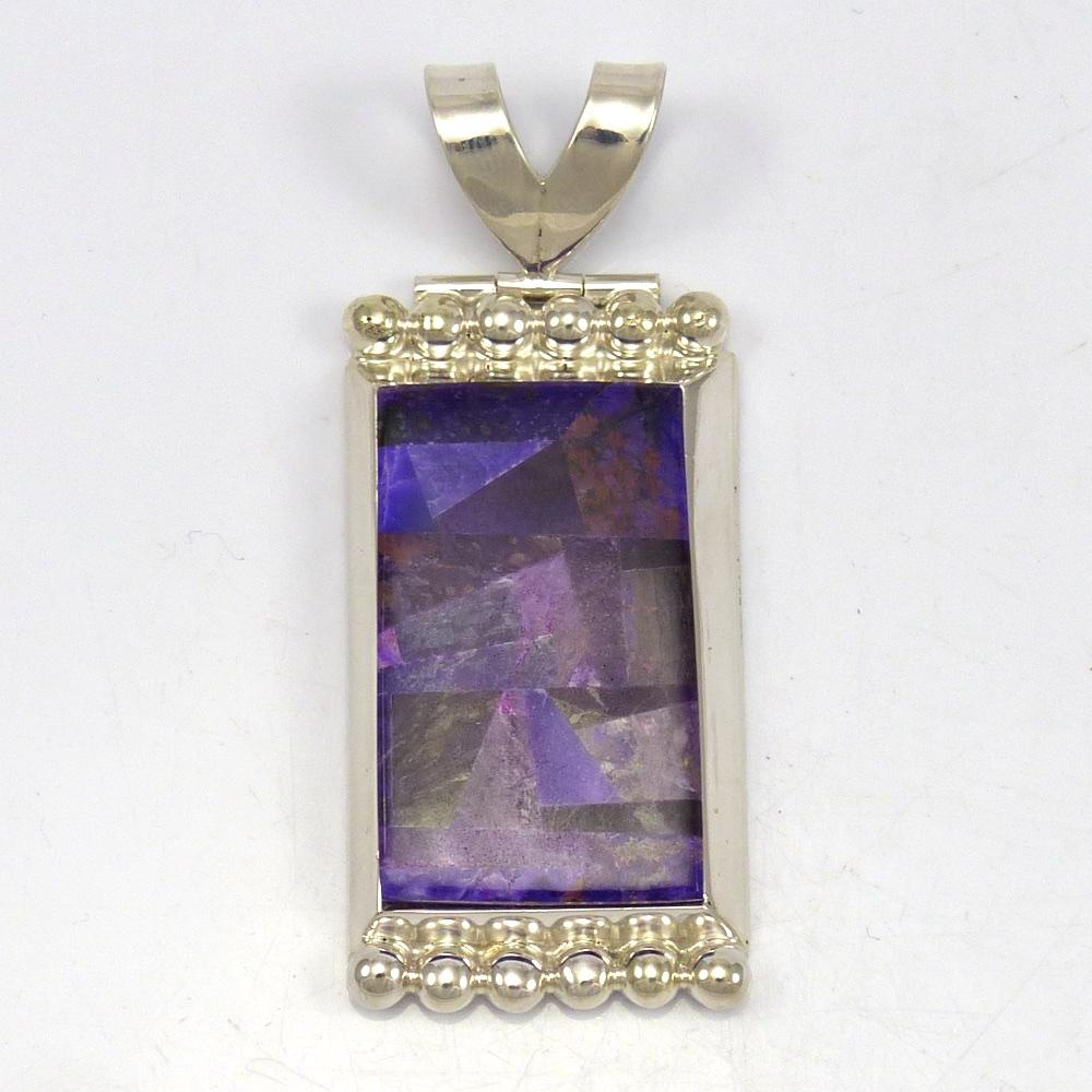 sugilite deep pendant s sterling products includes dark purple chain in rare silver