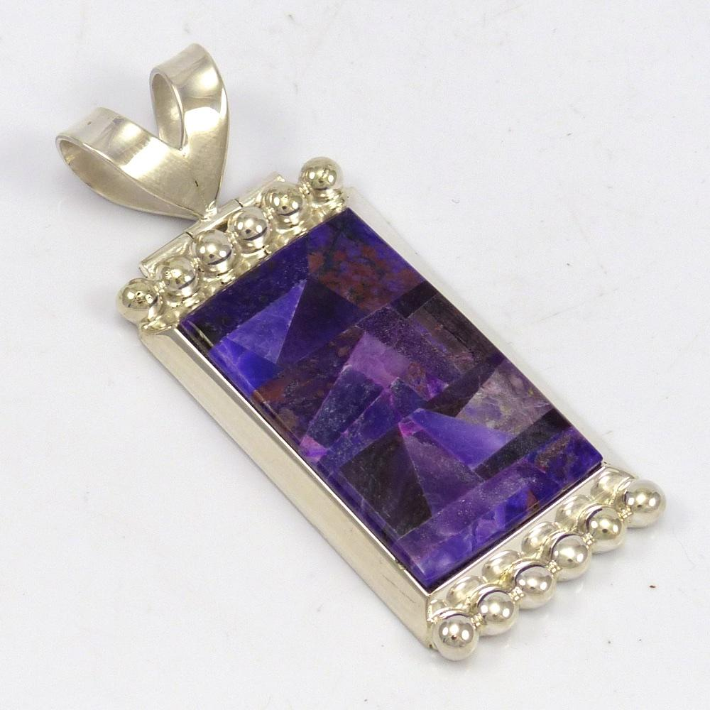 gems new world silver large sugilite pendant sterling products form free