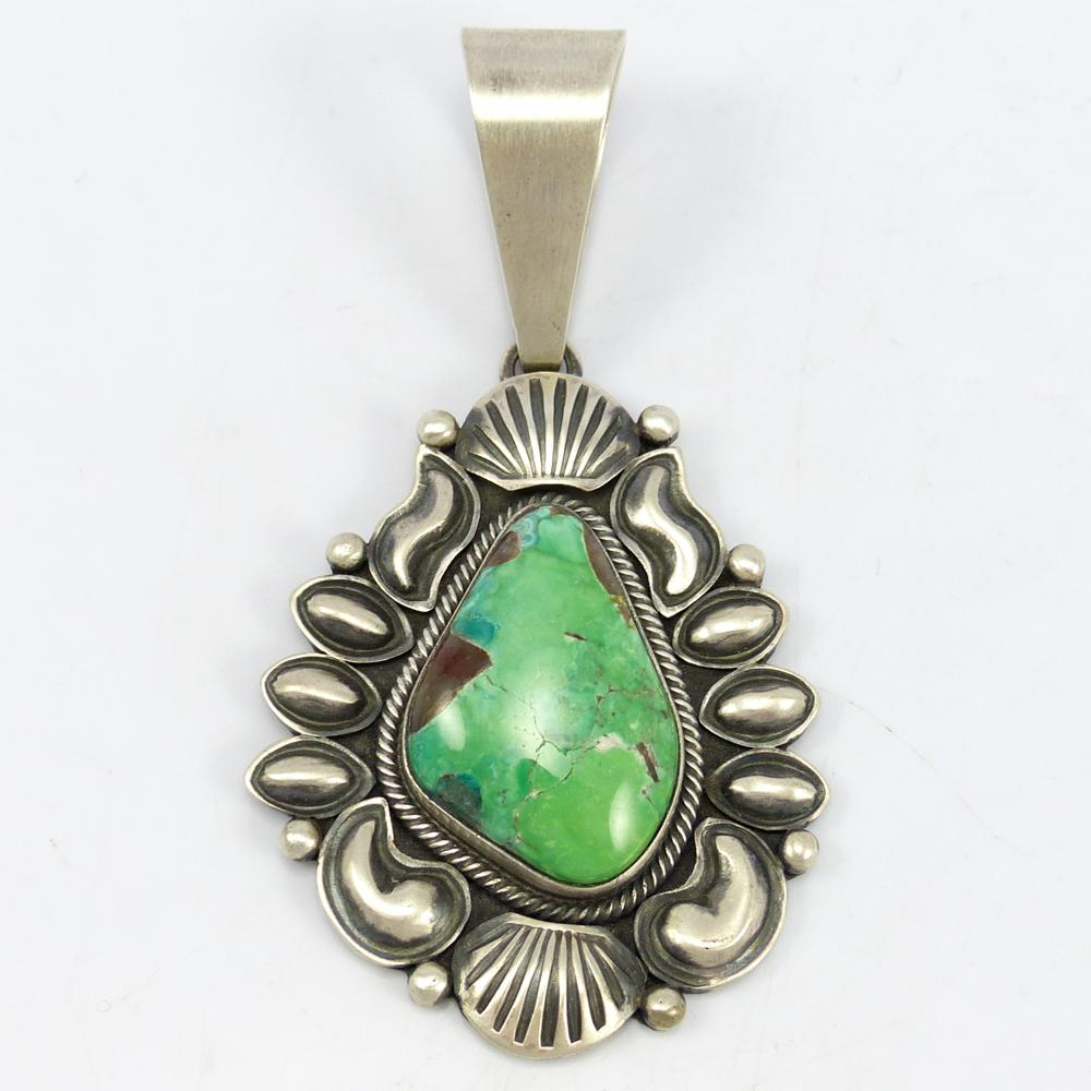 sterling and royston gold in turquoise set pendant silver mine products