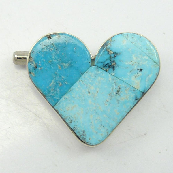 Turquoise Heart Pin