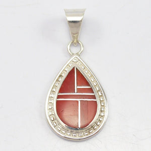 Inlay Coral Pendant