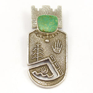"""Corn Guidance"" Pin and Pendant"