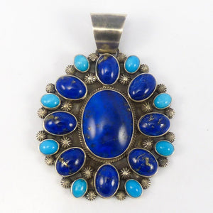 Lapis and Turquoise Pendant