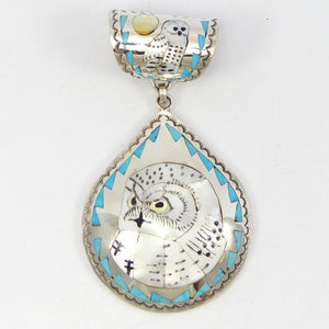 Inlay Owl Pendant