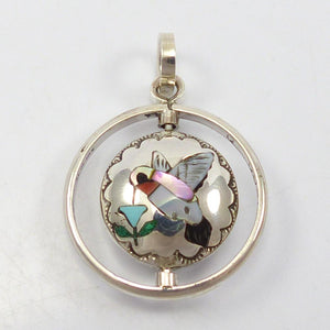 Inlay Spinner Pendant