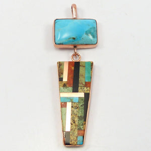 Inlaid Copper Pendant