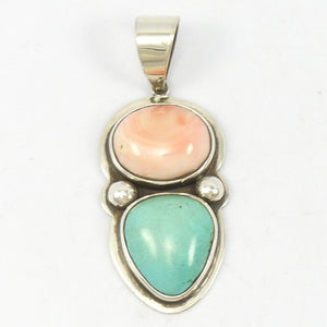 Angel Coral and Turquoise Pendant