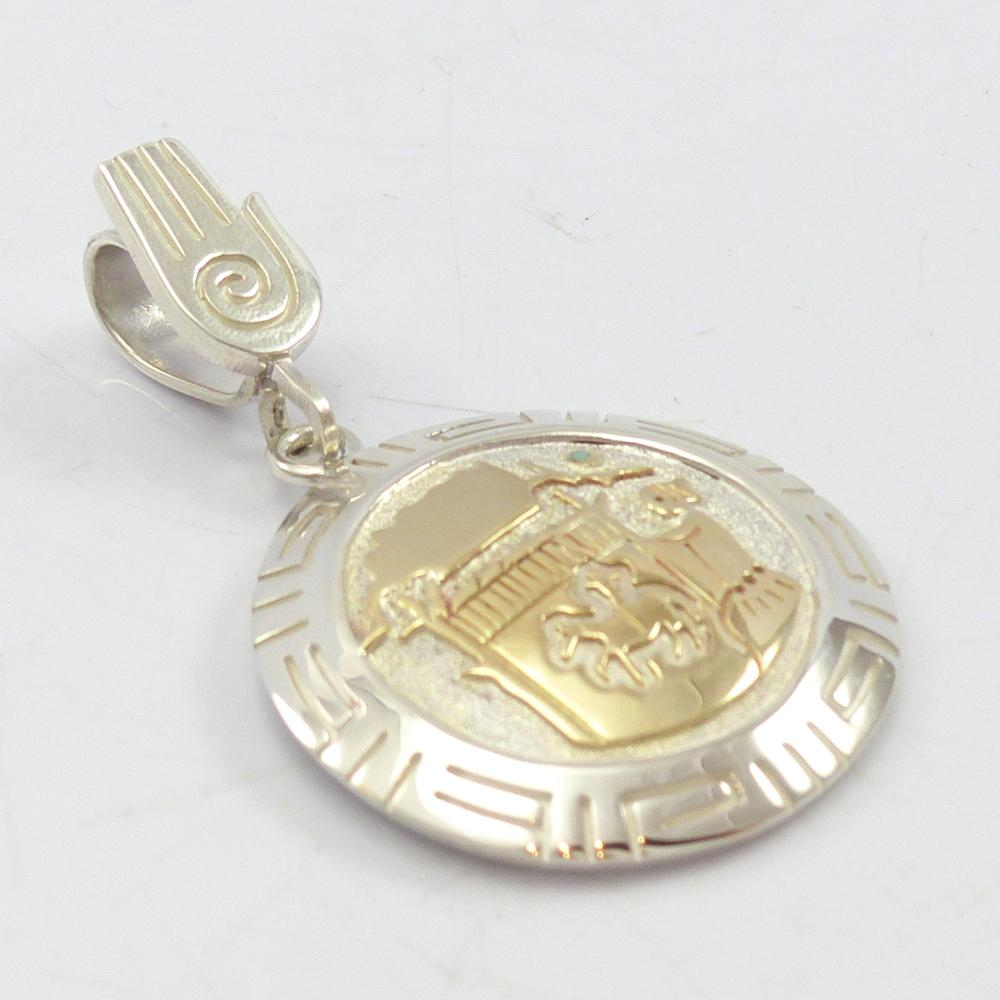 Gold on Silver Weaver Pendant