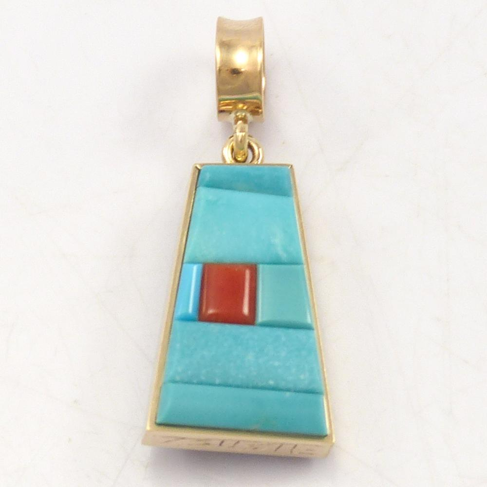 Reversible Gold Pendant