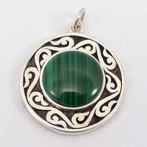 Malachite Spirit Medallion Pendant