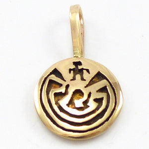 Gold Man in the Maze Pendant