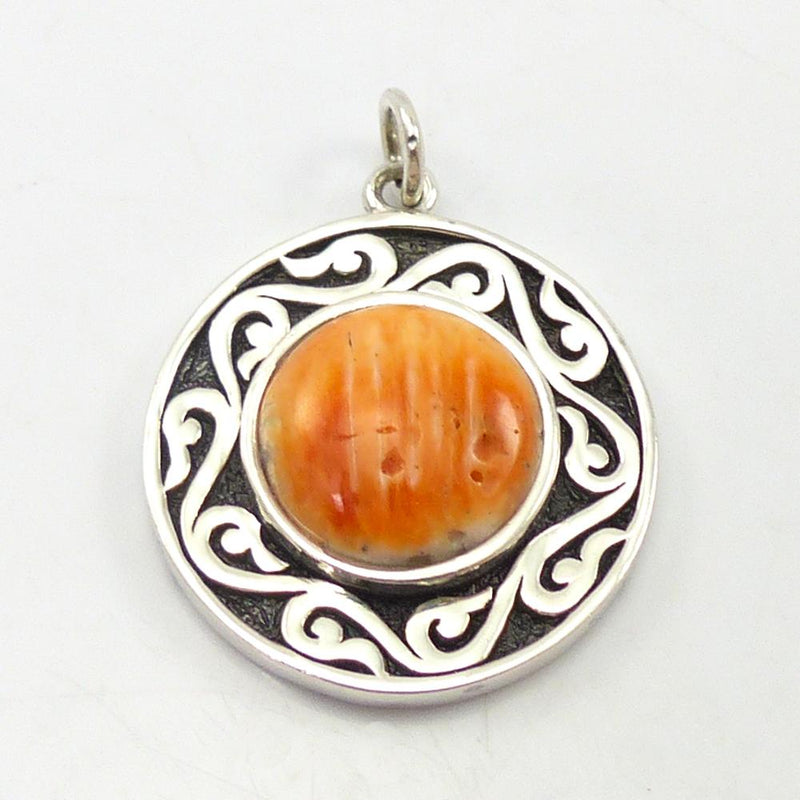 "Shell ""Spirit Medallion"" Pendant"