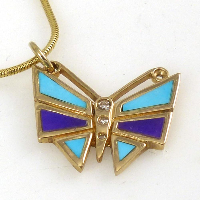 Gold Butterfly Pendant - Jewelry - Melanie and Michael Lente - 8