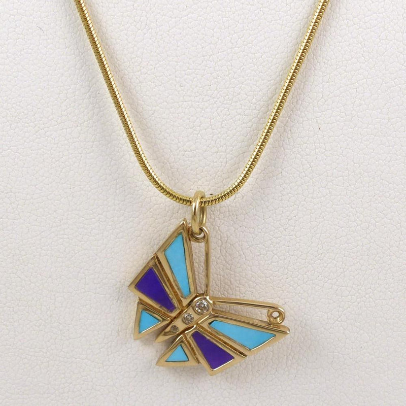 Gold Butterfly Pendant - Jewelry - Melanie and Michael Lente - 6