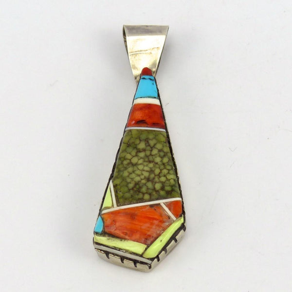 Multi-Stone Inlay Pendant, Don Staats, Jewelry, Garland's Indian Jewelry