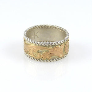14k Gold Engraved Ring - Jewelry - Julius Keyonnie - 1