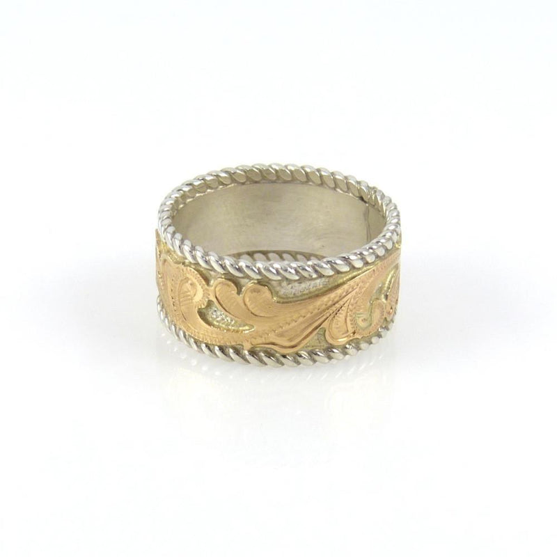 14k Gold Engraved Ring, Julius Keyonnie, Jewelry, Garland's