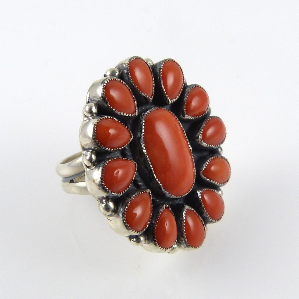 Coral Cluster Ring - Jewelry - Don Lucas - 1