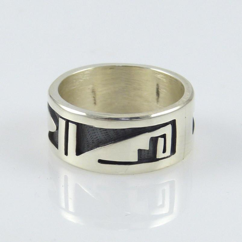 Hopi Overlay Ring - Jewelry - Phil Poseyesva - 1