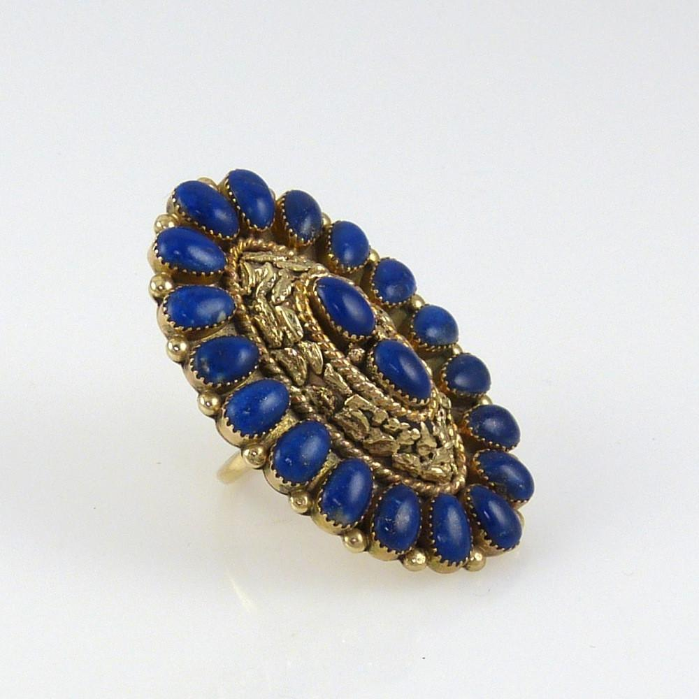 14k Gold and Lapis Ring - Jewelry - Lee and Mary Weebothee - 1