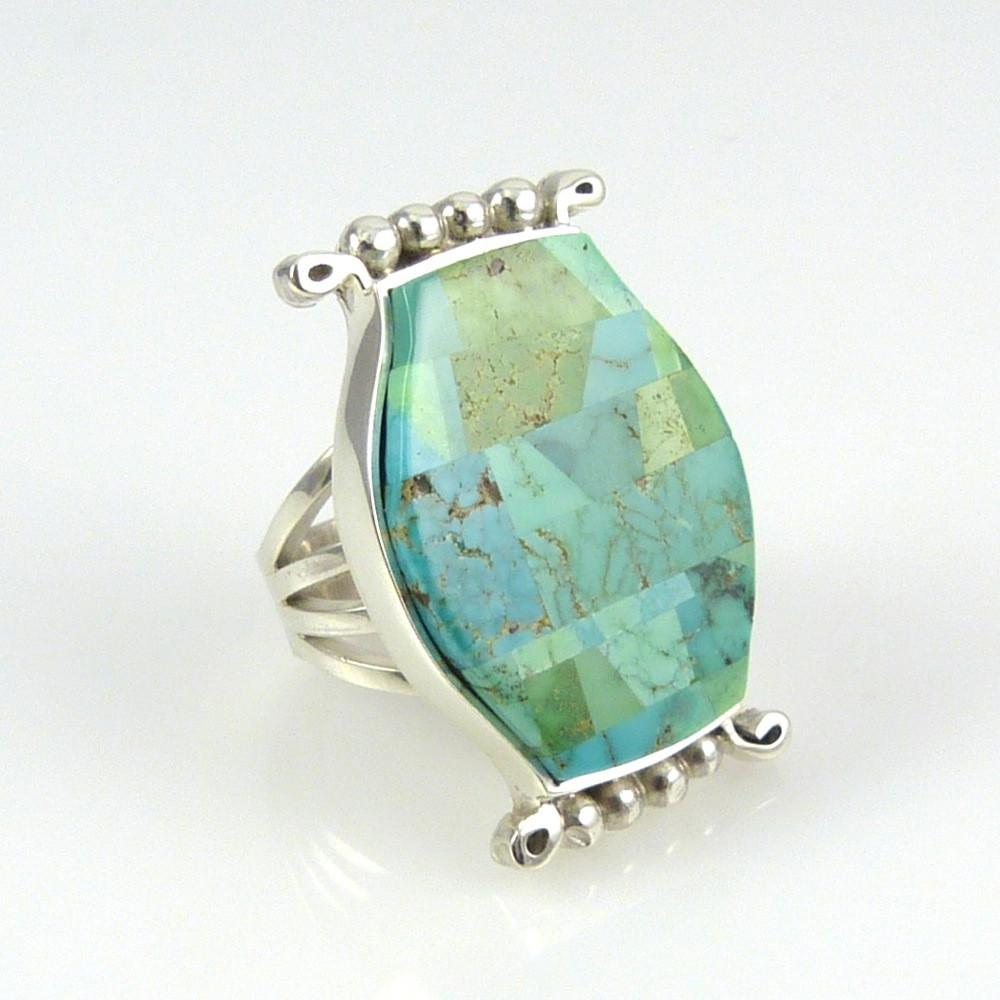Carico Lake Turquoise Ring - Jewelry - Bryon Yellowhorse - 1