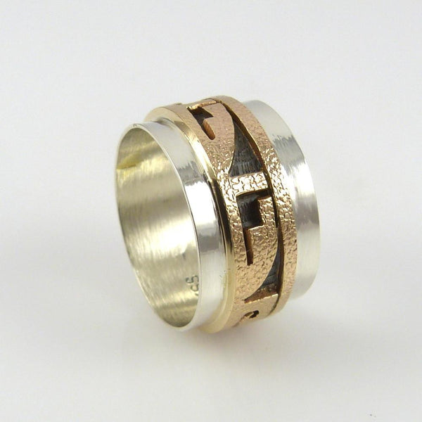 14k Gold and Silver Ring - Jewelry - Phil Poseyesva - 1