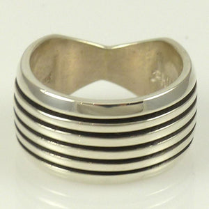 "Silver ""Track"" Ring - Jewelry - Philbert Begay - 1"