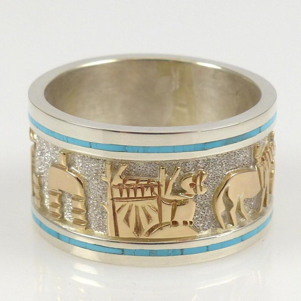 Gold on Silver Storyteller Ring - Jewelry - Robert Taylor - 1