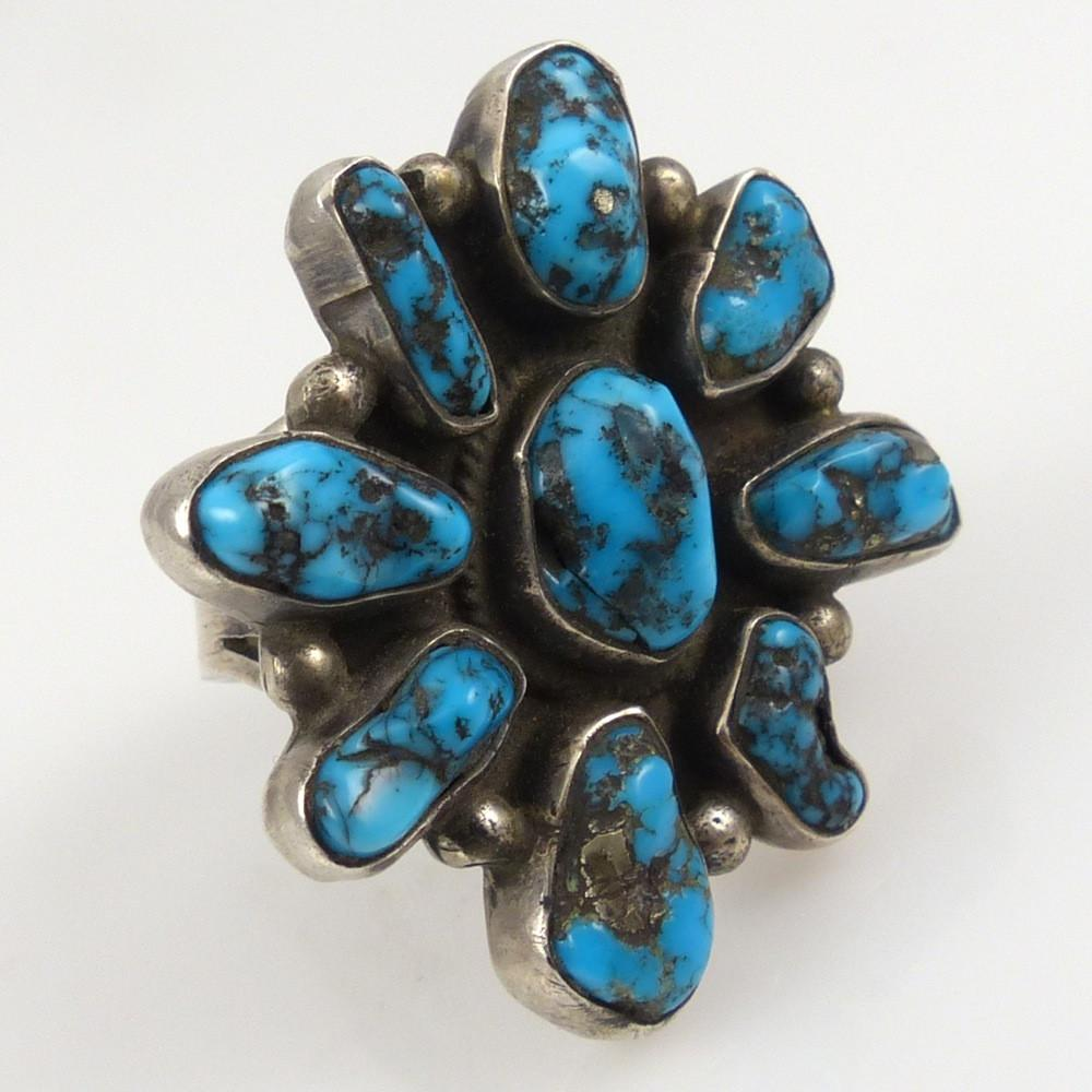 1960s Turquoise Cluster Ring - Jewelry - Vintage Collection - 1