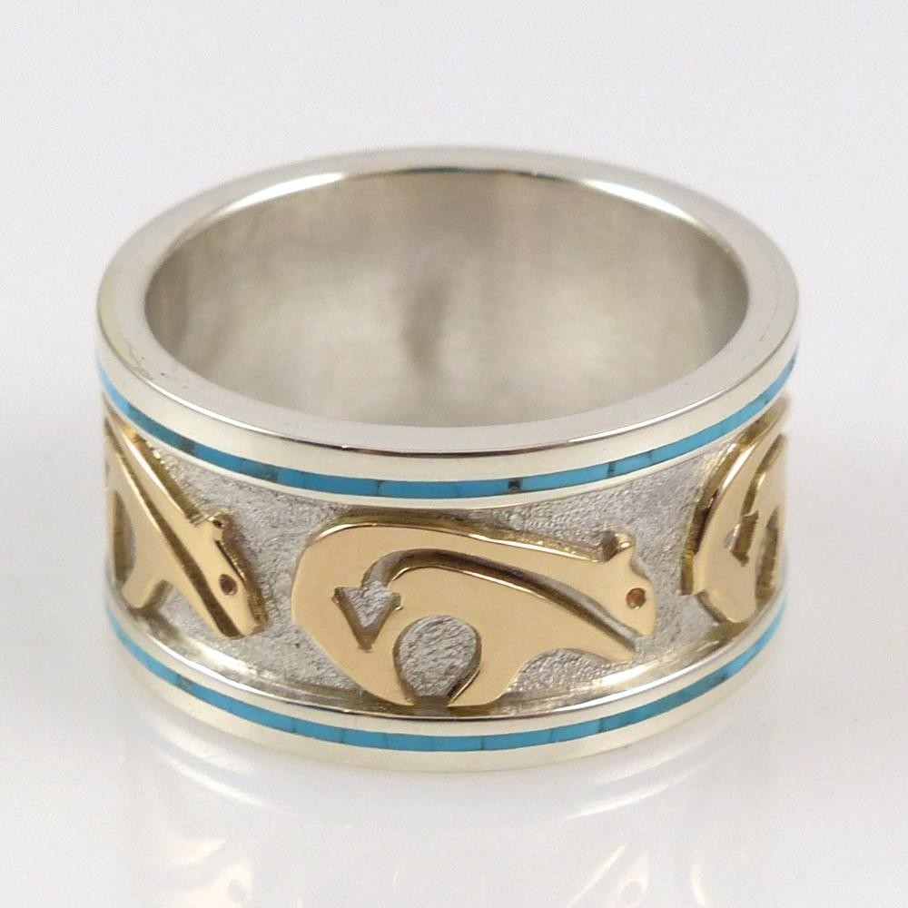 Gold on Silver Bear Ring - Jewelry - Robert Taylor