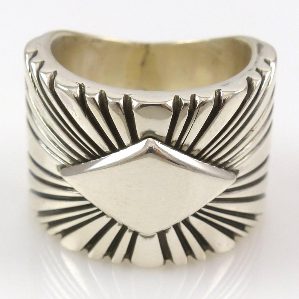 Stamped Silver Ring - Jewelry - Shawn Bedonie