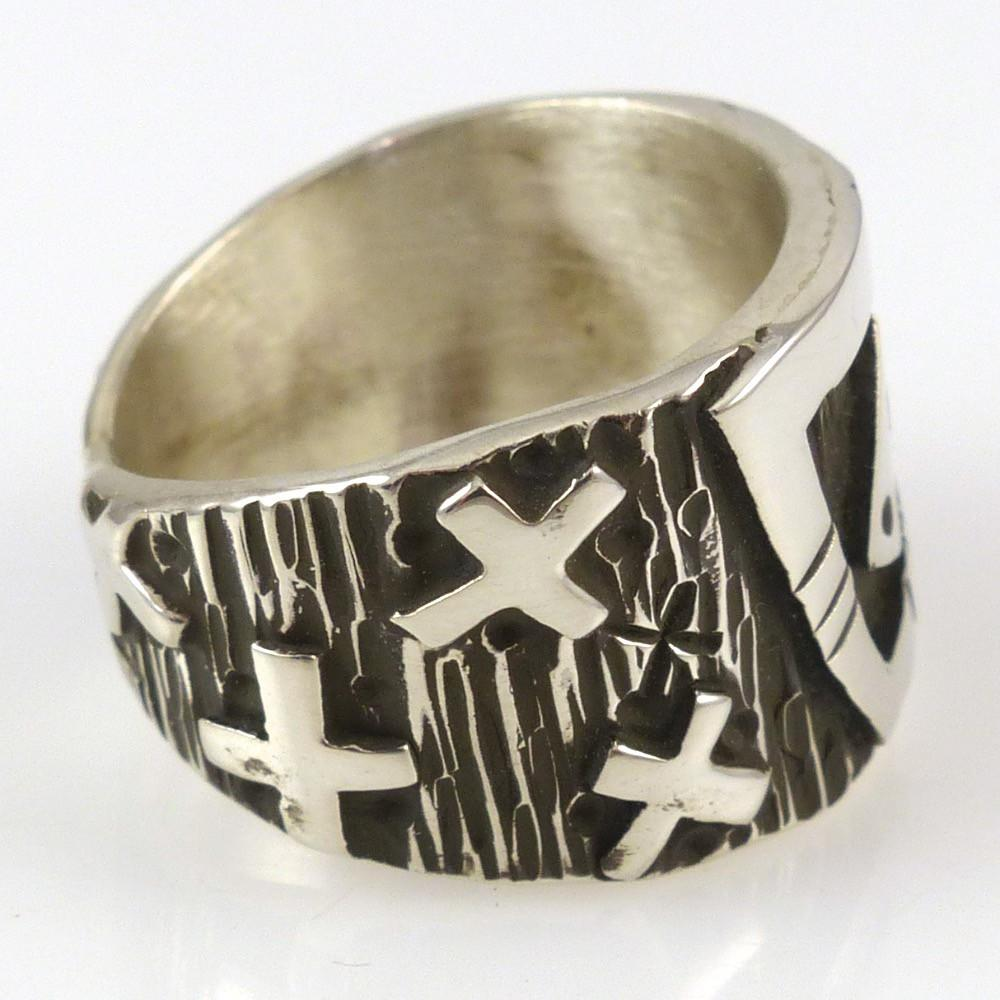 Silver Overlay Ring - Jewelry - Kee Yazzie - 1