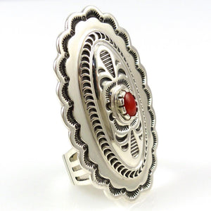 Coral Concho Ring - Jewelry - Fidel Bahe - 1