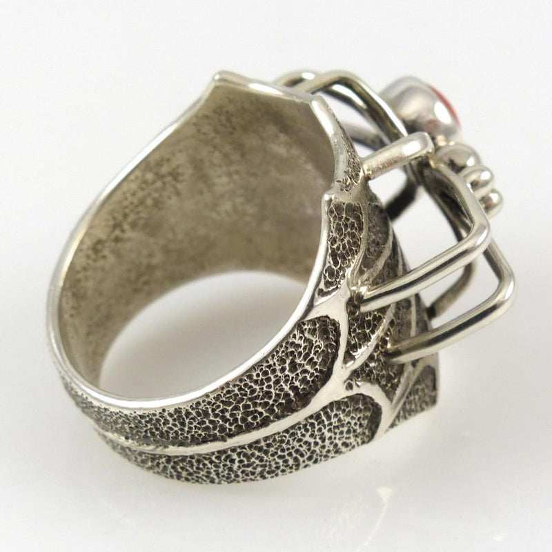 Coral Spider Ring - Jewelry - Fidel Bahe - 3