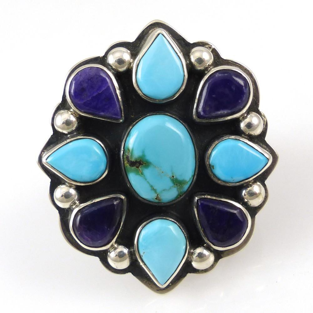 Turquoise and Sugilite Ring - Jewelry - Noah Pfeffer - 1