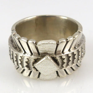 Stamped Silver Ring - Jewelry - Nathan Bedonie - 1