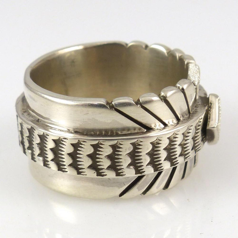 Stamped Silver Ring - Jewelry - Nathan Bedonie - 2