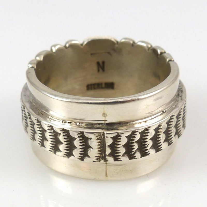 Stamped Silver Ring - Jewelry - Nathan Bedonie - 3