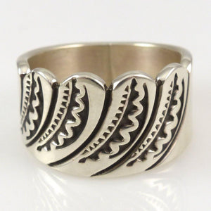 Stamped Silver Ring - Jewelry - Steven Yellowhorse