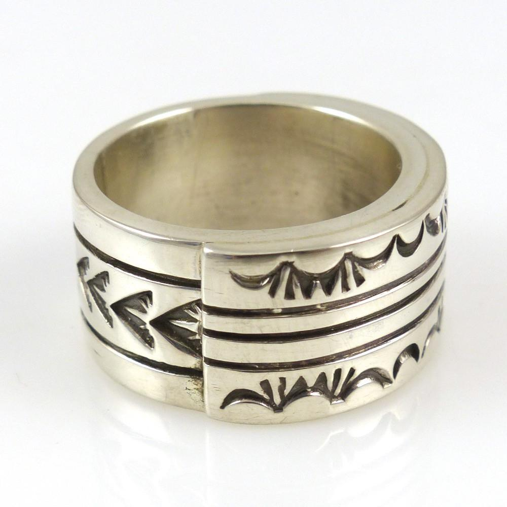 Stamped Silver Ring - Jewelry - Shawn Bedonie - 1