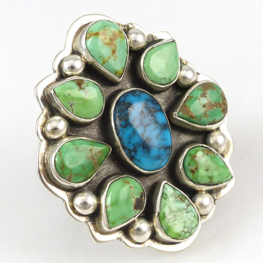 Carico Lake and Kingman Turquoise Ring - Jewelry - Noah Pfeffer - 1